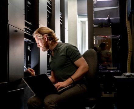 A computer server technician